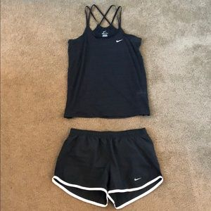 Nike Workout Tank and Shorts